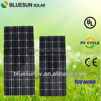 Bluesun hot sale 12v 95w home use mono 10 amp solar panel