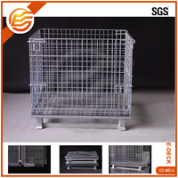 Cheap Lockable Wire Bulk Container Wire Mesh Folding Bulk Container