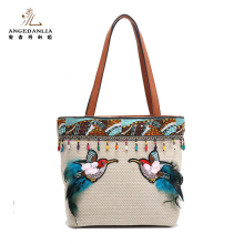Unique design PP straw further women lady beach handbag tote bag