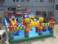 Outdoor Huge Children Inflatable Jumping Bouncy Castle With Slide