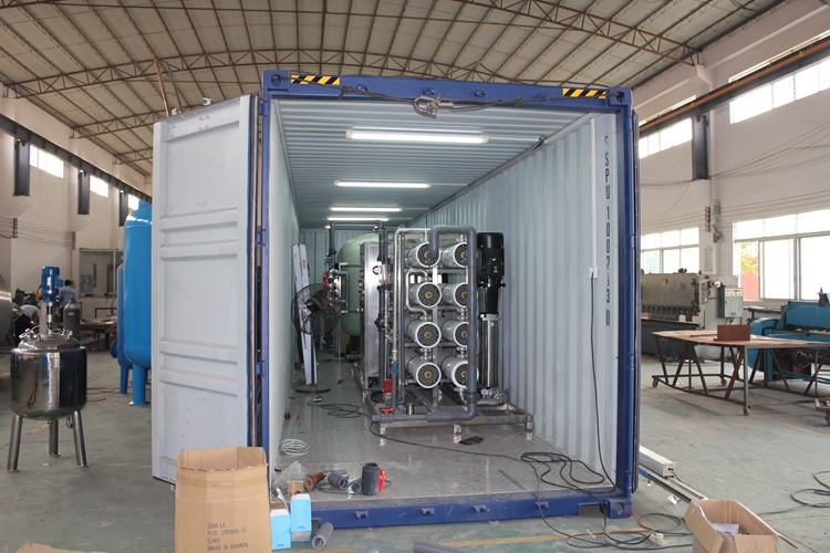 Containerized Reverse Osmosis Alkaline Water Treatment System Purifier Machine Purification Equipment Epc