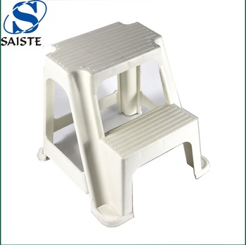 High quality 13.5 inches height non-slip two step plastic stool