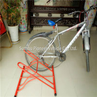 strong and durable indoor double dual 2 bike bicycle floor stand