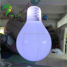 Inflatable Helium Bulb Balloon With led Light / PVC Inflatable Bulb Model