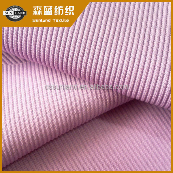 [hot]Best price knitted polyester spandex french rib fabric for sale