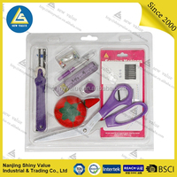 Knitting needles hand embroidery sewing kit accessories sewing set with seam ripper&pin cushion