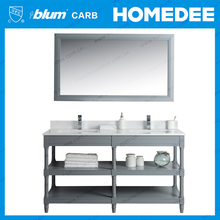 Homedee china home furniture double sink bathroom basins and vanities