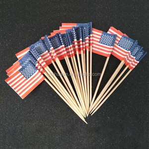 Flag wooden food picks cocktail toothpicks will all national flags