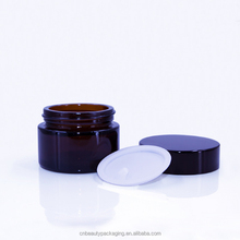 Cute Black cosmetic containers for creams jars plastic