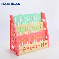 Children furniture lovely plastic bookshelf kids