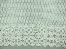 tiny circle guipure embroidery lace with beautiful edge