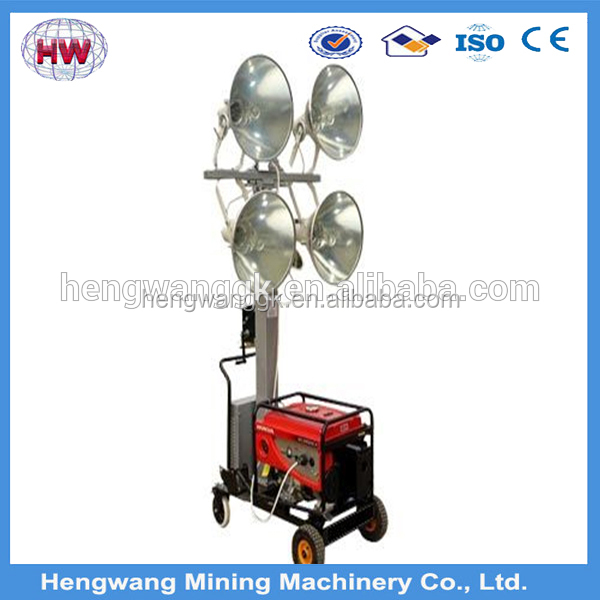 power 2000w,gasoline or diesel engine ,industrial mobile light tower