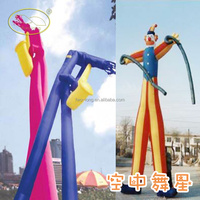 6mH 2 legs inflatable uncle John air dancer with blowers,elephant tube air dancer for sale
