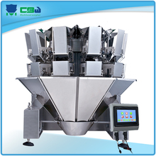 10 head semi auto multihead weigher and food packaging equipment for big products