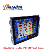"POG/WMS game 22"" LCD game infrared touch monitor with 3M touch screen with bezel"