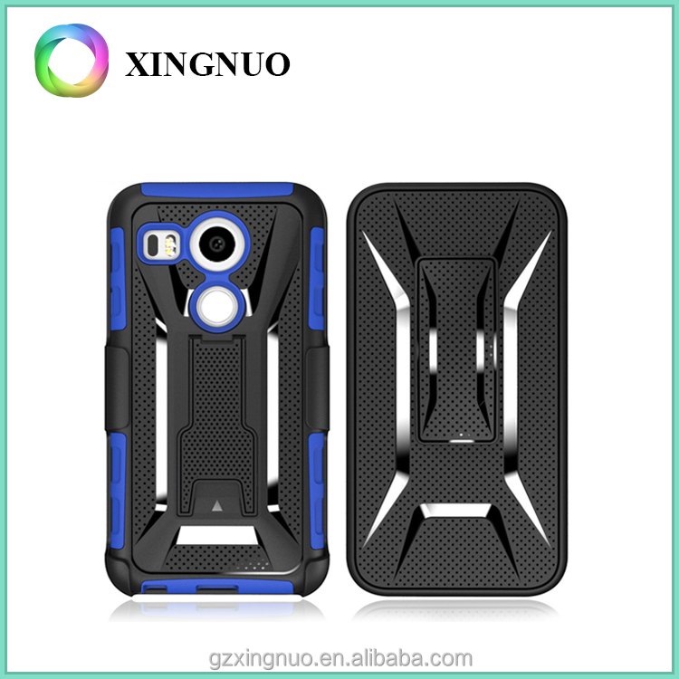 3 in 1 T-Shape Kickstand Heavy Duty Armor Belt Clip Holster Combo mobile Phone Cases For LG Nexus 5X