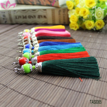 Wholesale Handmade Silver Bead Caps Graduation Silk Tassel