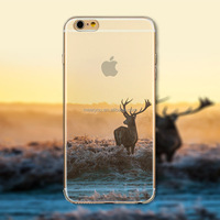 Cheap cell Phone Case Cover For iPhone 6 4.7'' Case Ultra Thin Soft Silicon Transparent Deer custom phone cases for Phone CEUVP