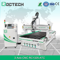 Roctech wood furniture making 8 tools linear atc cnc woodworking machine with tool changer