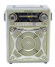 Rechargeable radio with USB/SD function AM/FM radio retro wood U77