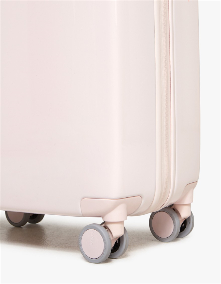 Double-spinning Gloss Hardside Suitcase Foldable Trolley Luggage