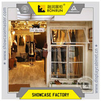 Clothing shop window design and interior design