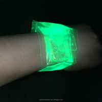 New Ideas Novelty Fashion Customized Glow in the Dark Thin Film Bracelet/Wristband for bar/concert/event/party/Wedding