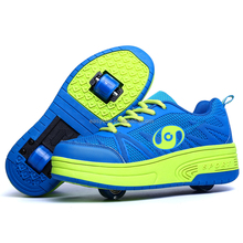 Fashion 2 wheel roller skate shoesfor kids,wholesale children mesh funny flying sport shoes