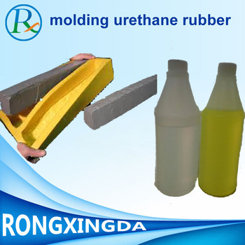 Liquid polyurethane rubber for stamping concrete