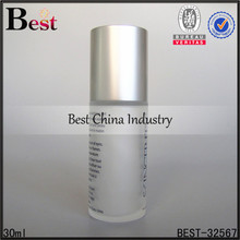 30ml roll on glass bottle cylinder deodorant 30ml roll on glass bottle silk logo printing OEM