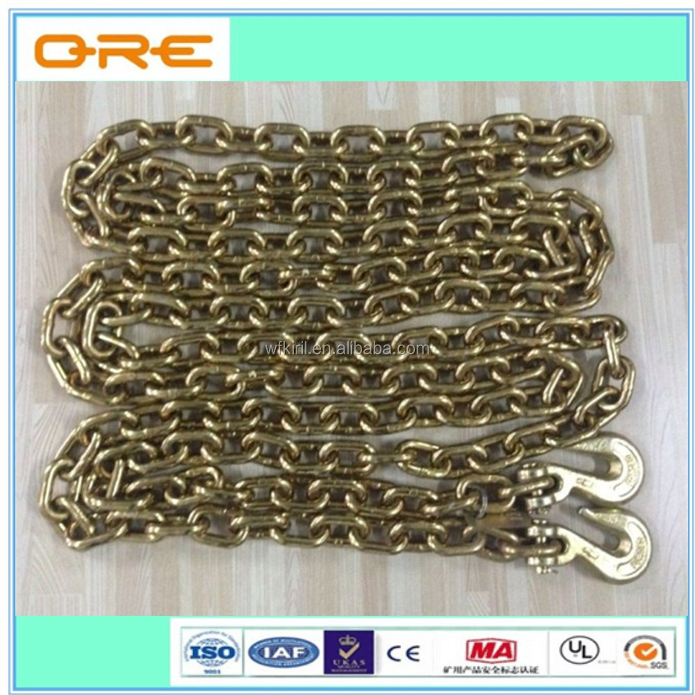 Galvanized connecting with link chain grade70 for transport