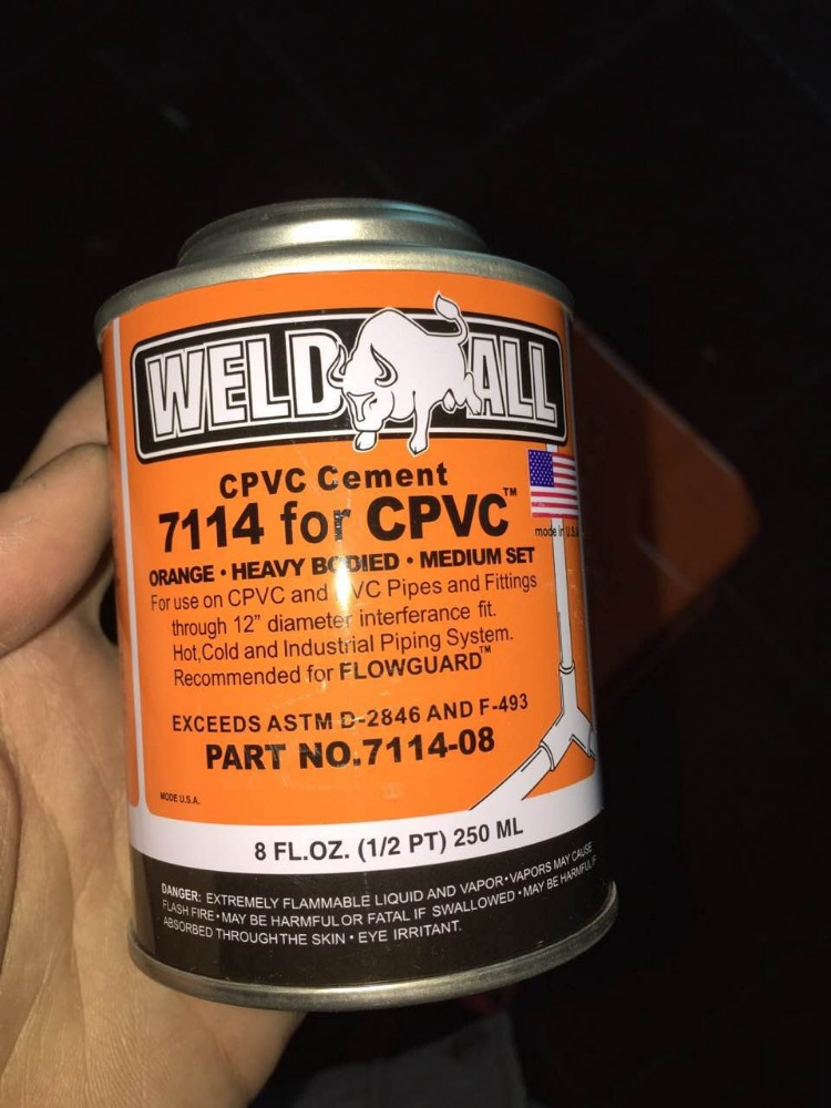 PVC glue adhesive for pipe UPVC PIPE adhesive CPVC pipe solvent cement