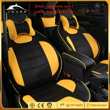 PVC leather surface stitch diamond pattern with foam backed suede for car seat cover usage