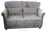 Simply love seats style fabric sofa with letter linen living room sofa
