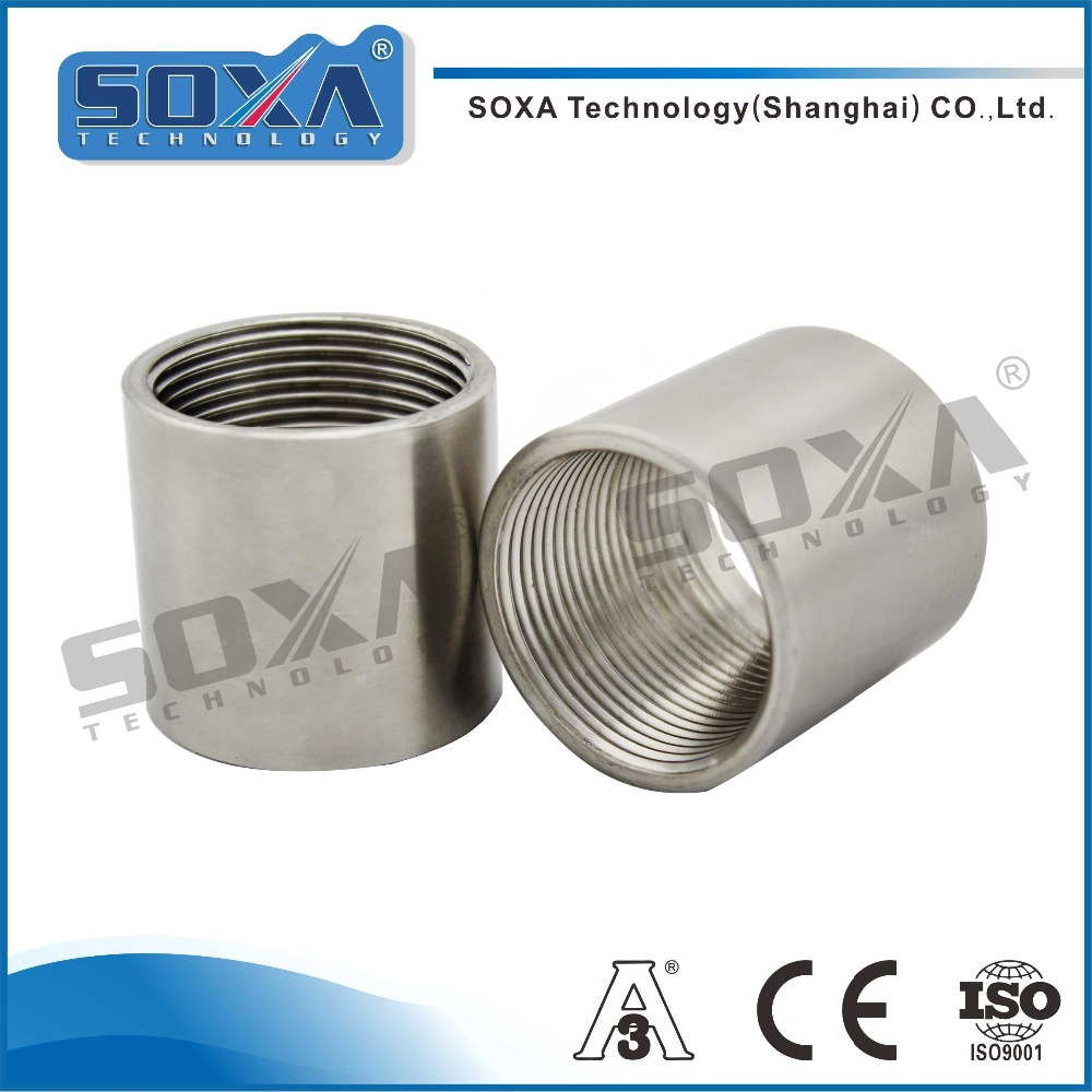 Stainless steel high quality female threaded full pipe coupling with combination