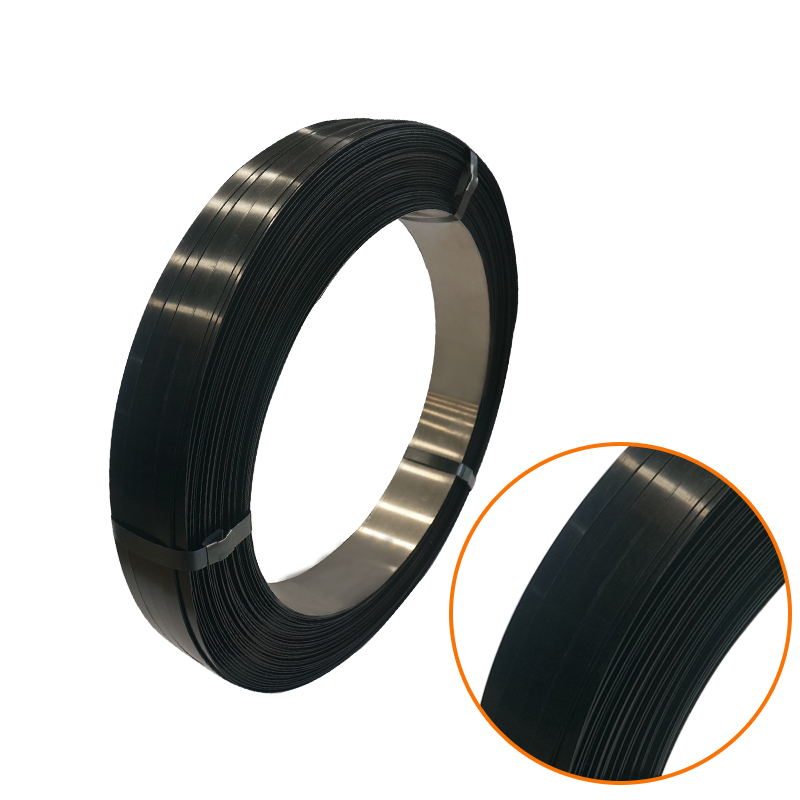 Black Painted Packaging Steel/Metal Band Strapping