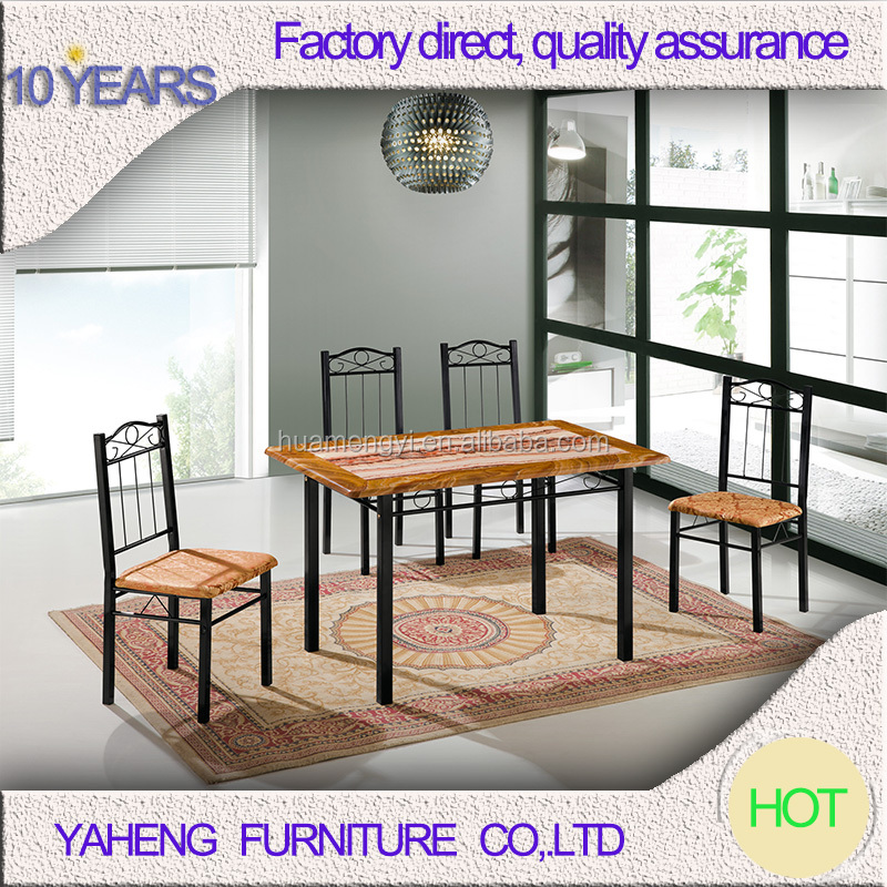 Hot selling fastfood wrought iron fiberglass chairs and tables