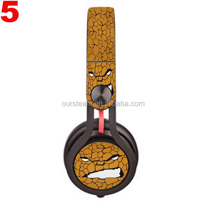 Newest Fashion Custom Vinyl Skin Sticker Decal Cover for Headphone Sample Order Accepted