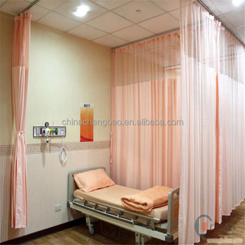 cheap hospital curtain in emergency room cubicle curtain