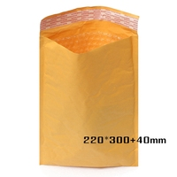 220*300+40mm Wholesale Kraft Bubble Envelopes Padded Mailers Self-Seal Bags Packing Post
