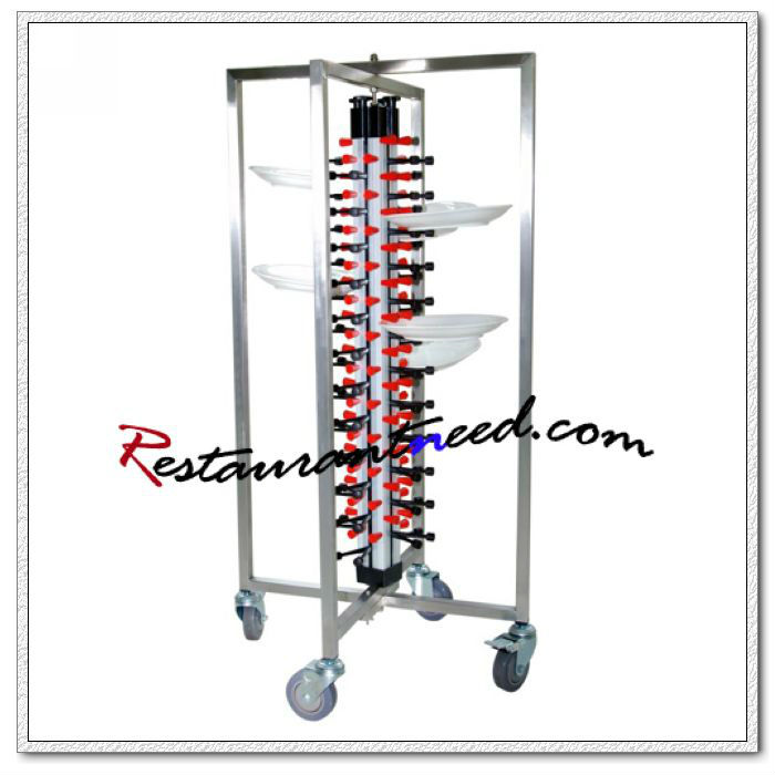 P289 48 Plates Adjustable Mobile Plate Rack