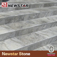 Honed finish vein cut Nutural Grey Silver travertine pavers stones travertine