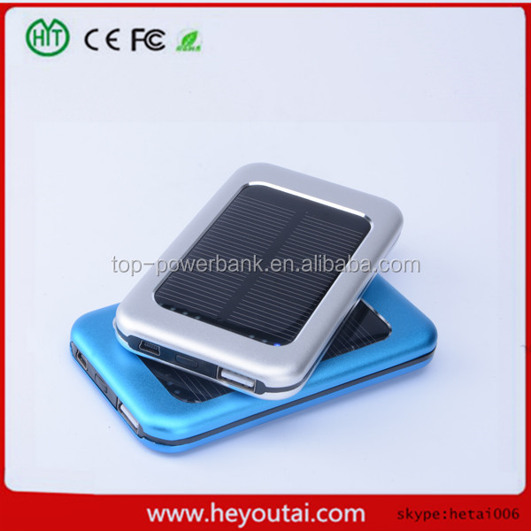 solar power bank charger 5000 mAh solar cell power bank