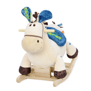 2018 hot selling plush wooden rocking horse toy