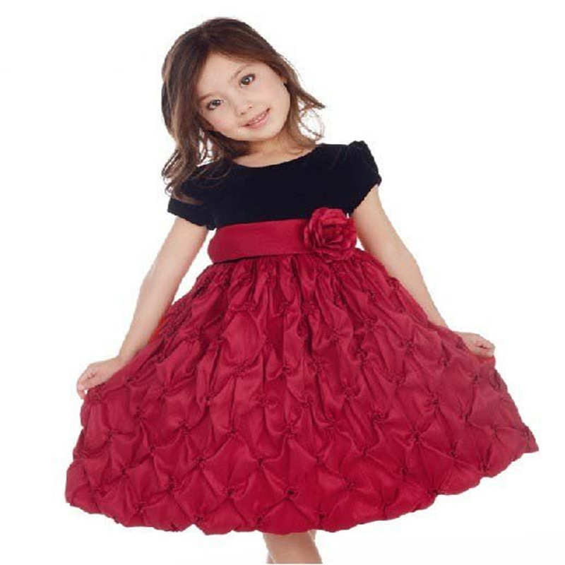 children latest dress style modern children wedding dress