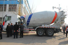 2015 new price self loading concrete mixer truck