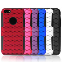 Top Selling PC+Silicon Hybrid Mesh Combo Case For iphone 5 phone case