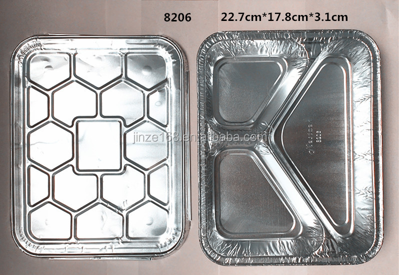 smoothwall disposable aluminum foil container / tray /lunch box for food packaging