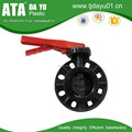 "2""-8"" high quality low price plastic pvc butterfly valves wafer handle type"