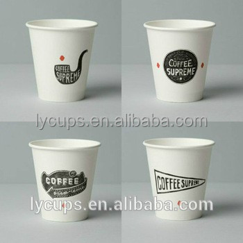 logo printed disposable coffee paper mugs